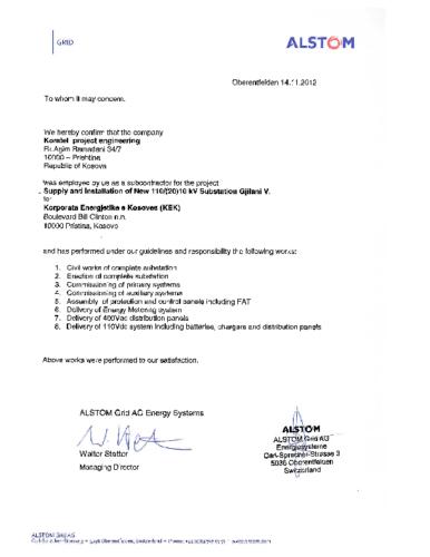 Ndërtimi i nënstacionit 110/10kV Gjilani 5