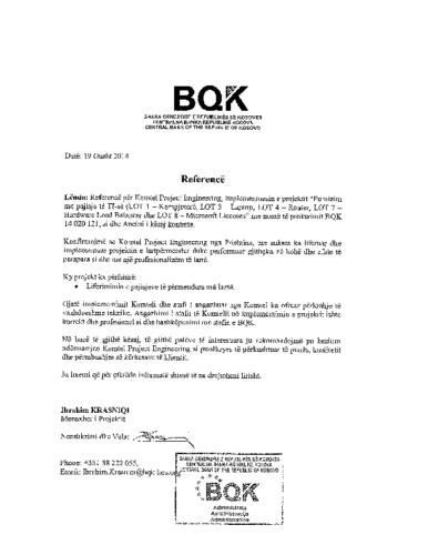 Harduer për TI dhe licenca të MS për BQK